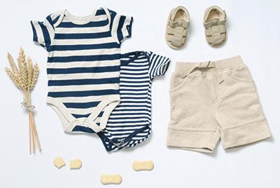 Auswahl an nachhaltiger Babykleidung