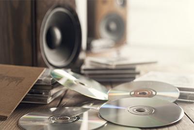 Sammlung wertvoller CDs