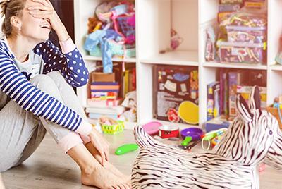 Le rangement de la chambre d'enfant peut être synonyme de stress